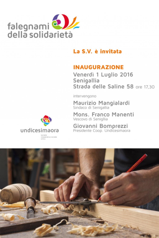 """Inaugurazione """"Falegnami della Solidarietà"""""""