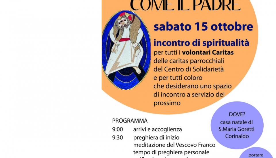 Incontro di spiritualità per tutti i volontari Caritas