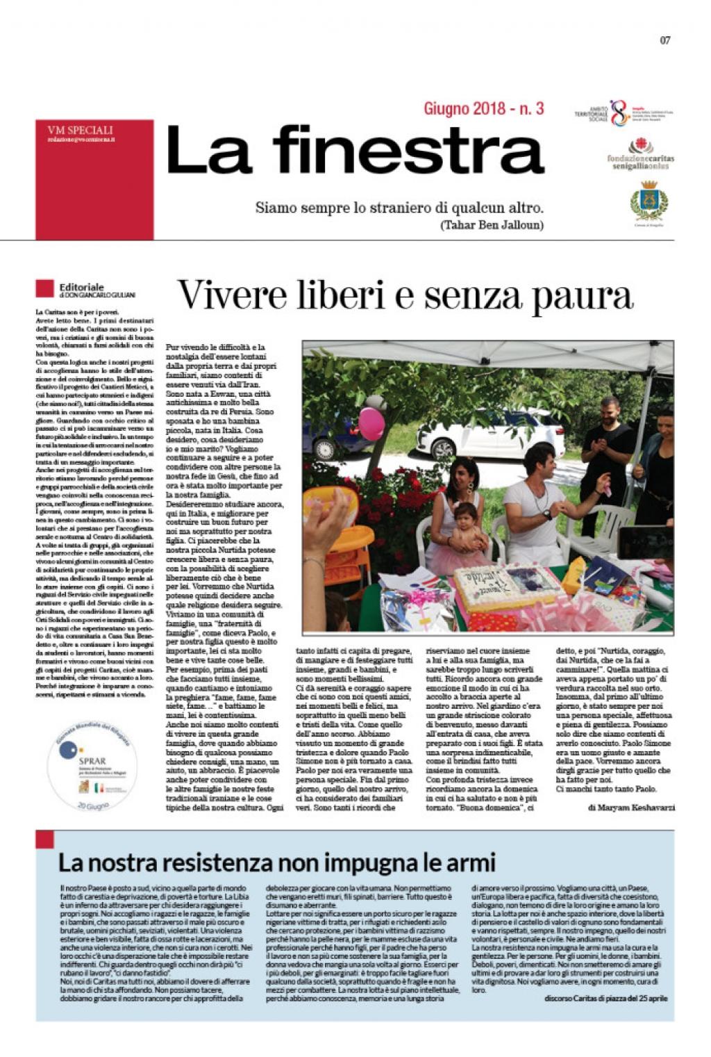 """""""La Finestra"""", racconti in occasione della Giornata del Rifugiato"""