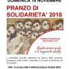 Trecastelli: pranzo di solidarietà 2018