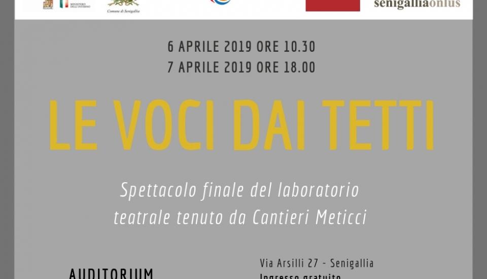 """""""Le Voci dai Tetti"""" – spettacolo dei Cantieri Meticci"""