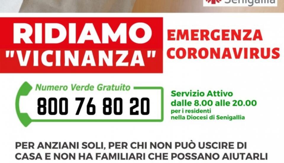 """Ridiamo """"Vicinanza"""" – numero verde Caritas per emergenza COronavirus"""